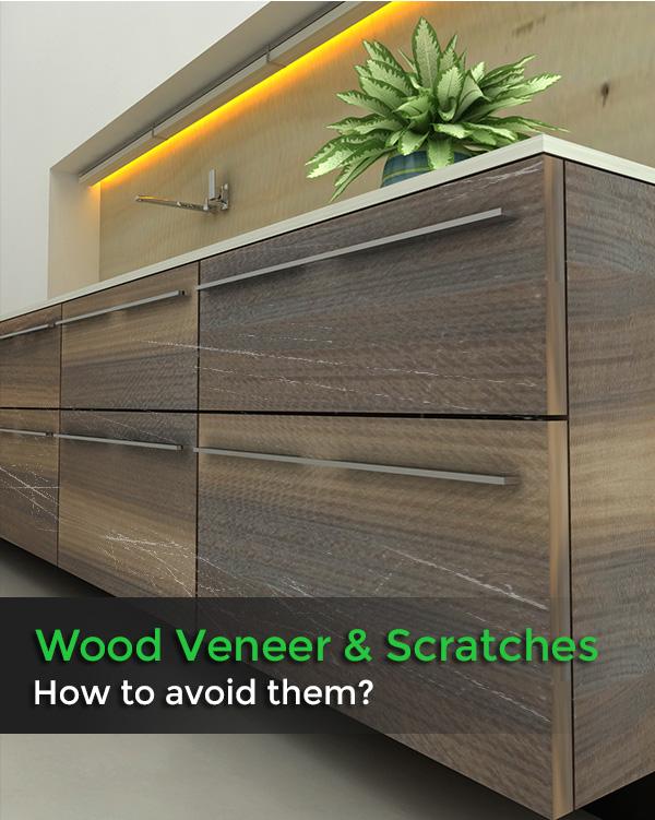 wood veneers & scratches
